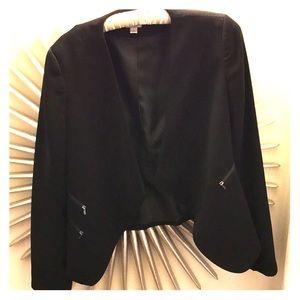 Black zipper blazer